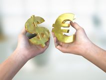 Escolha da moeda Imagens de Stock Royalty Free