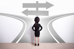 Escolha da mulher de negócio Fotografia de Stock