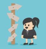 Escolha da mulher de negócio Imagens de Stock