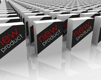 Escolha de compra da loja de pacotes das caixas dos produtos novos melhor Imagem de Stock Royalty Free