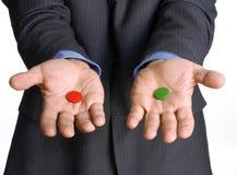 A escolha do negócio. Imagens de Stock