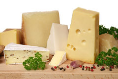 Escolha do queijo Fotos de Stock