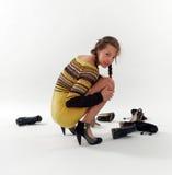 Escolha dos calçados Fotos de Stock