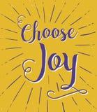 Escolha Joy Typography Poster Fotografia de Stock