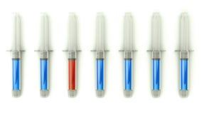 Escolha médica direita com grupo de seringas Imagem de Stock Royalty Free