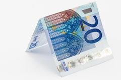 Escolha a nota do Euro vinte Fotos de Stock