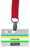 Escolha o emblema (passagem) do vip isolado, textura plástica foto de stock