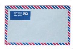 Escolha o envelope azul do correio aéreo imagens de stock