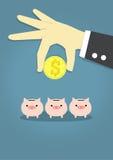Escolha o invesment ilustração royalty free