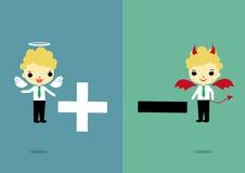 Escolha o positivo ou o negativo ilustração do vetor