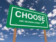 Escolha o sinal de estrada Imagens de Stock