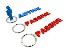 Escolha passiva ativa ilustração stock
