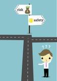 Escolha a segurança ou arrisque-a ilustração royalty free
