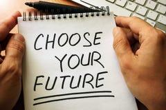 Escolha seu futuro Foto de Stock Royalty Free