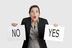 Escolha sim ou do No. imagens de stock