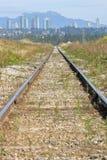 Escolha a trilha e o Major City do trem imagens de stock