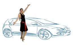 Escolha um carro novo imagens de stock