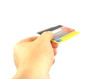 Escolha um cartão Imagem de Stock