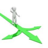 Escolha verde Imagens de Stock