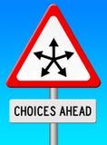 Escolhas adiante Imagem de Stock Royalty Free