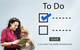 Escolhas da lista de verificação para fazer o conceito da avaliação da auditoria Imagem de Stock