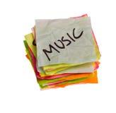 Escolhas da vida - fazendo decisões de despesa - música Fotografia de Stock