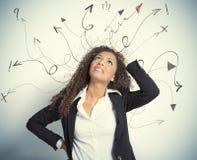 Escolhas difíceis no negócio Imagem de Stock Royalty Free