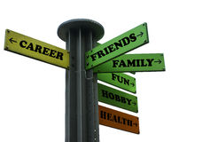 Escolhas e estrada transversaa das decisões Fotos de Stock Royalty Free