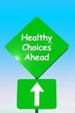 Escolhas saudáveis adiante Imagens de Stock Royalty Free