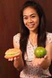 Escolha saudável do alimento. Imagem de Stock Royalty Free