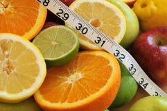 Escolhas saudáveis para a peso-perda Imagens de Stock Royalty Free