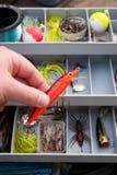 Escolhendo a atração direita da pesca fotografia de stock royalty free