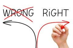 Escolhendo a maneira direita Fotografia de Stock