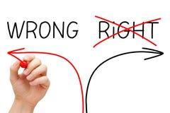 Escolhendo a maneira errada Imagens de Stock