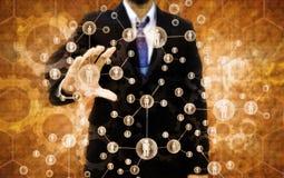 Escolhendo a pessoa adequada em um grupo de executivos Imagens de Stock