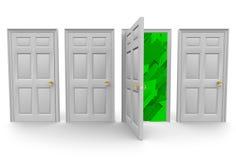 Escolhendo a porta direita ao sucesso Fotografia de Stock Royalty Free