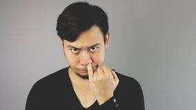 Escolhendo seu nariz Fotografia de Stock