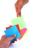 Escolhendo um cartão Imagens de Stock