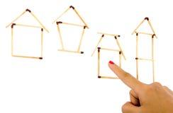 Escolhendo uma casa Fotografia de Stock Royalty Free