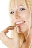 Escolheu o chocolate Imagens de Stock