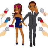 Escolta Press Celebrity Girl Fotos de Stock Royalty Free