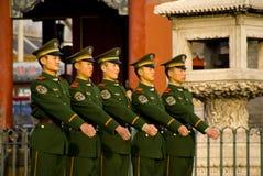 Escoltas armadas na cidade proibida Imagem de Stock