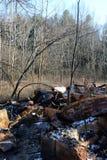Escombros carbonizados foto de archivo