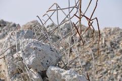 Escombros concretos imagen de archivo
