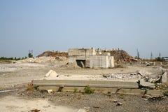 Escombros concretos fotografía de archivo