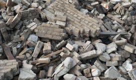 Escombros de la demolición Fotografía de archivo