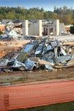 Escombros de la demolición imagen de archivo libre de regalías
