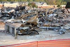 Escombros de la demolición fotos de archivo