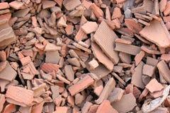 Escombros de los ladrillos rojos Imagen de archivo