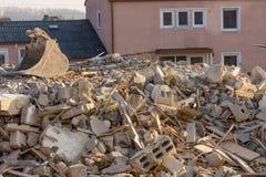 Escombros del edificio Foto de archivo libre de regalías